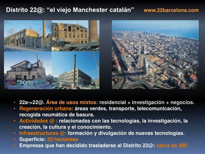 """Distrito 22@: """"el viejo Manchester catalán"""""""