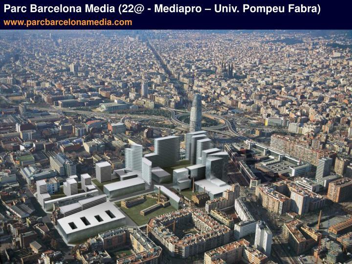 Parc Barcelona Media (22@ - Mediapro – Univ. Pompeu Fabra)