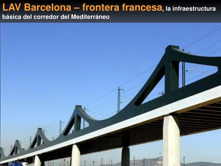 LAV Barcelona – frontera francesa