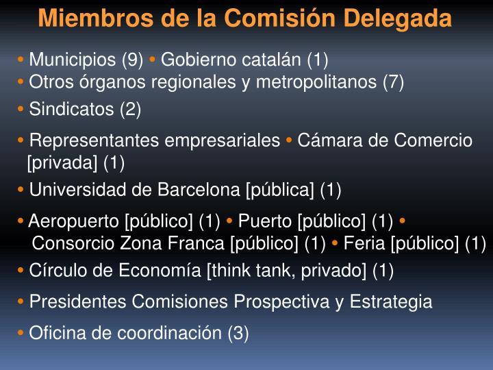 Miembros de la Comisión Delegada