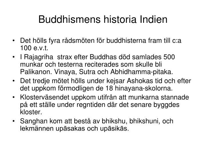 Buddhismens historia Indien