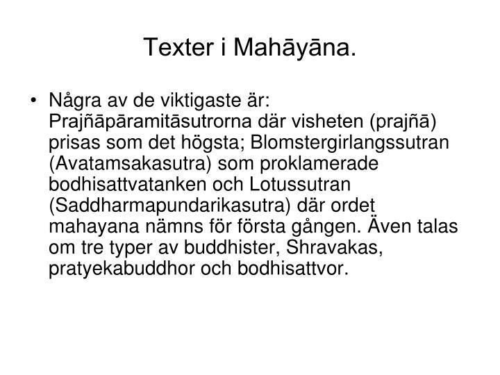 Texter i Mahāyāna.