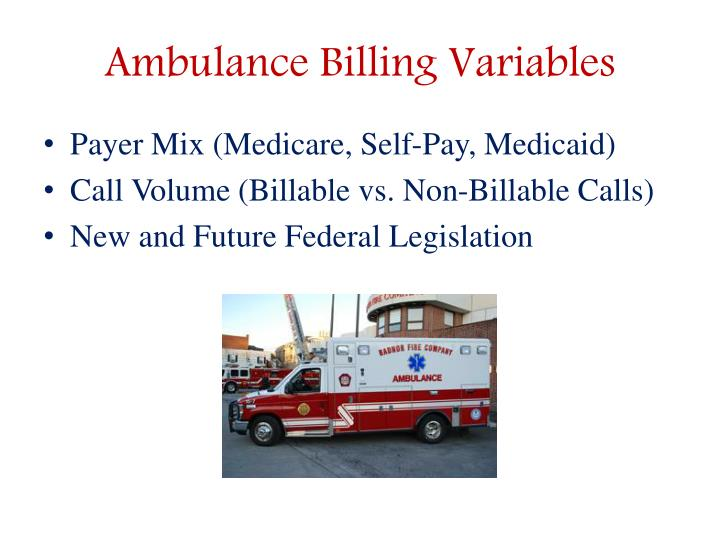 Ambulance Billing Variables