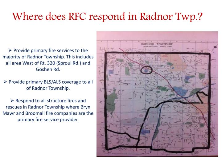 Where does RFC respond in Radnor Twp.?