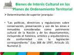 bienes de inter s c ultural en los planes de ordenamiento territorial
