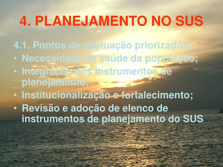 4. PLANEJAMENTO NO SUS