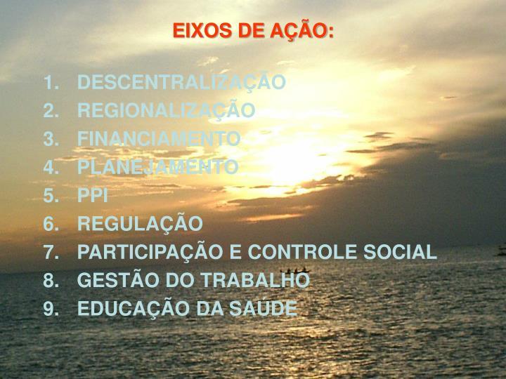 EIXOS DE AO: