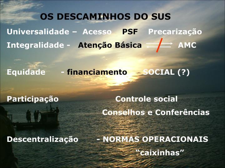 OS DESCAMINHOS DO SUS