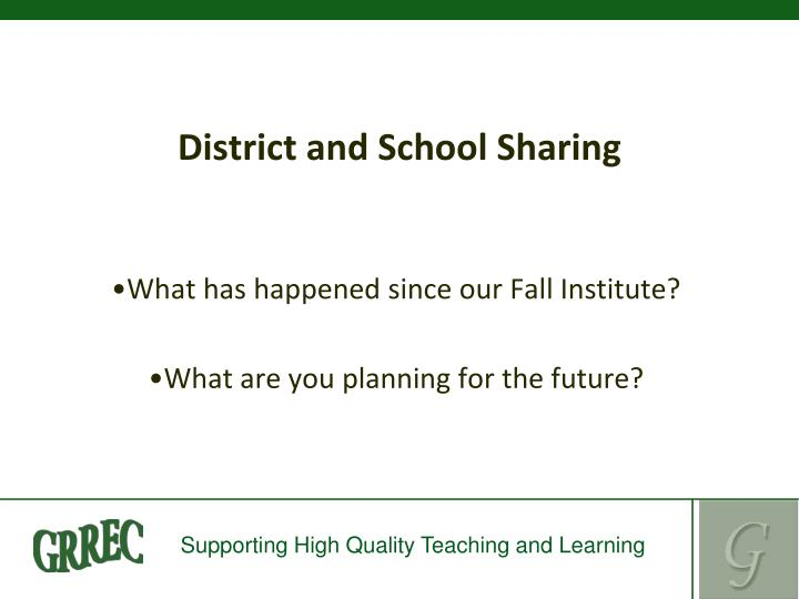 District and School Sharing