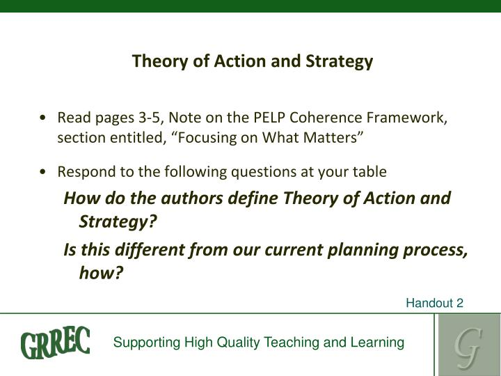 Theory of Action and Strategy