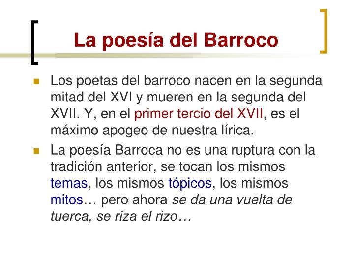 La poesía del Barroco