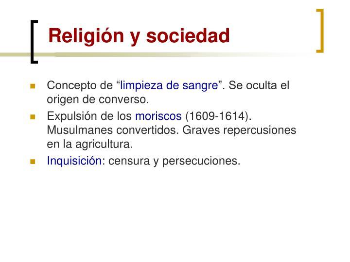 Religión y sociedad
