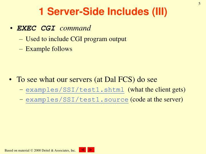 1 Server-Side Includes (III)