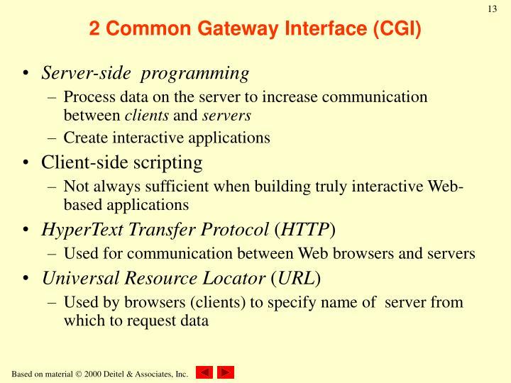 2 Common Gateway Interface (CGI)