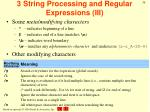 3 string processing and regular expressions iii