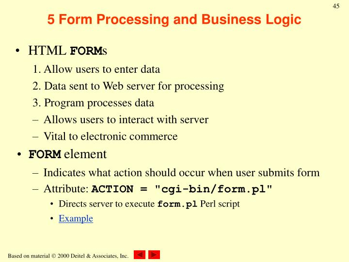5 Form Processing and Business Logic