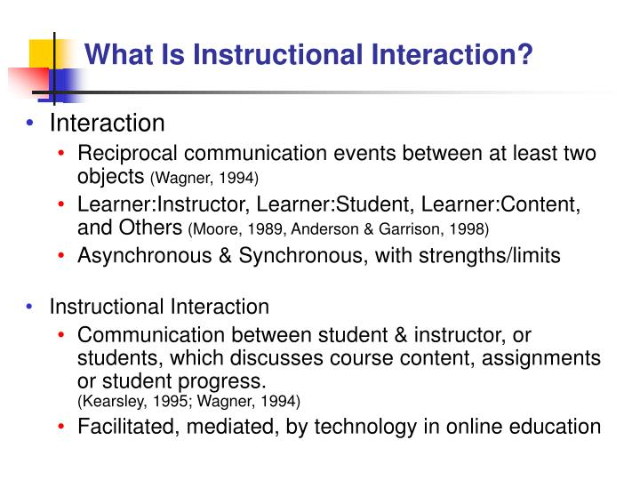 What Is Instructional Interaction?