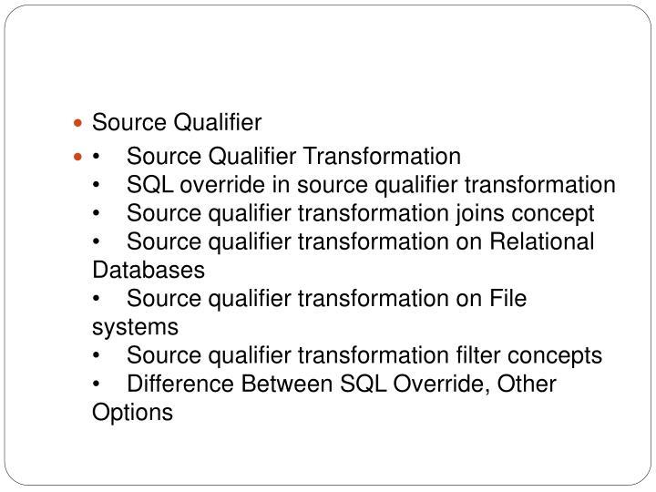Source Qualifier