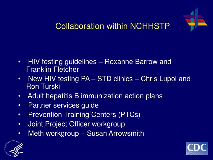 Collaboration within NCHHSTP