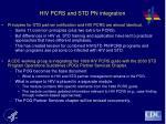 hiv pcrs and std pn integration