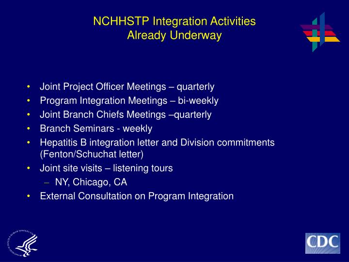NCHHSTP Integration Activities