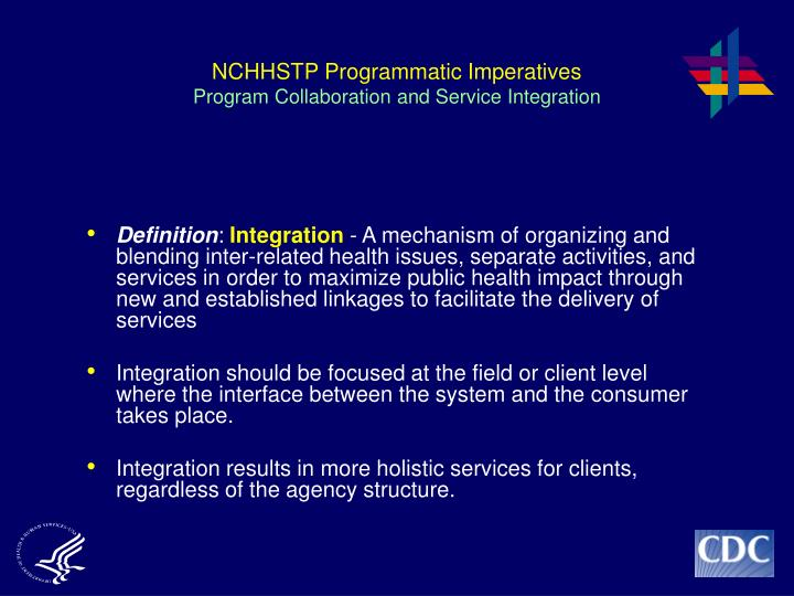 NCHHSTP Programmatic Imperatives