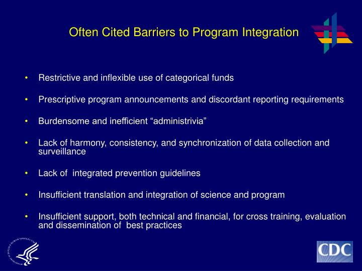 Often Cited Barriers to Program Integration