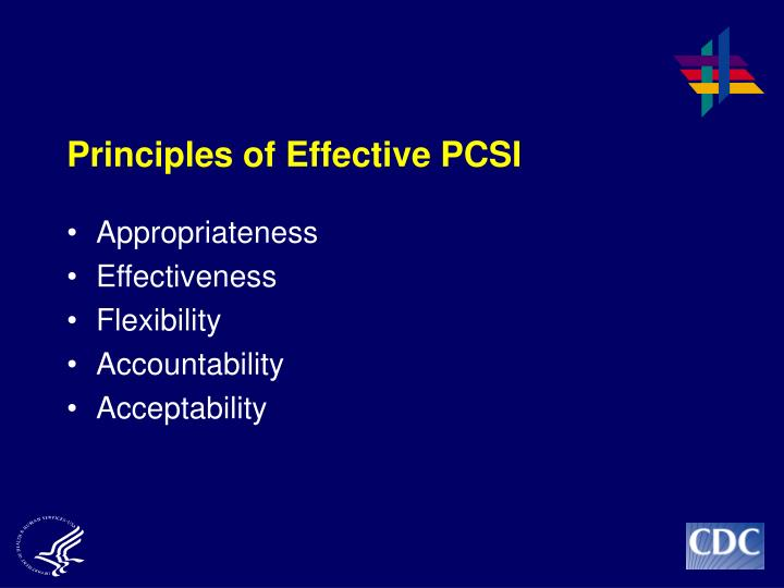 Principles of Effective PCSI