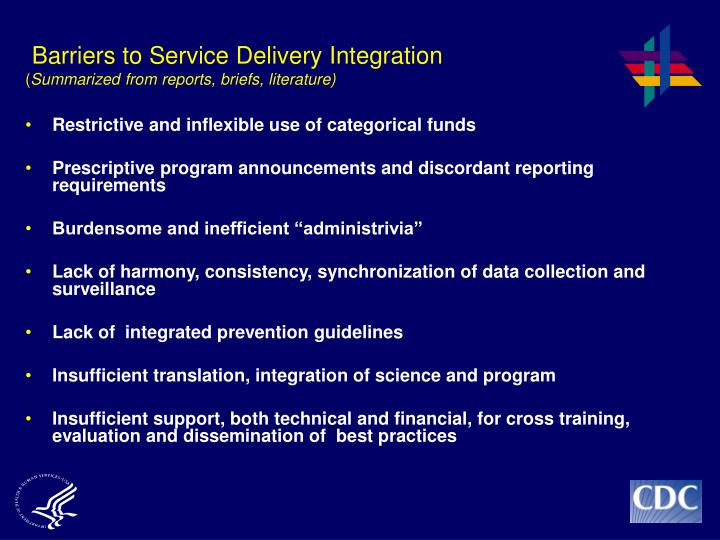 Barriers to Service Delivery Integration