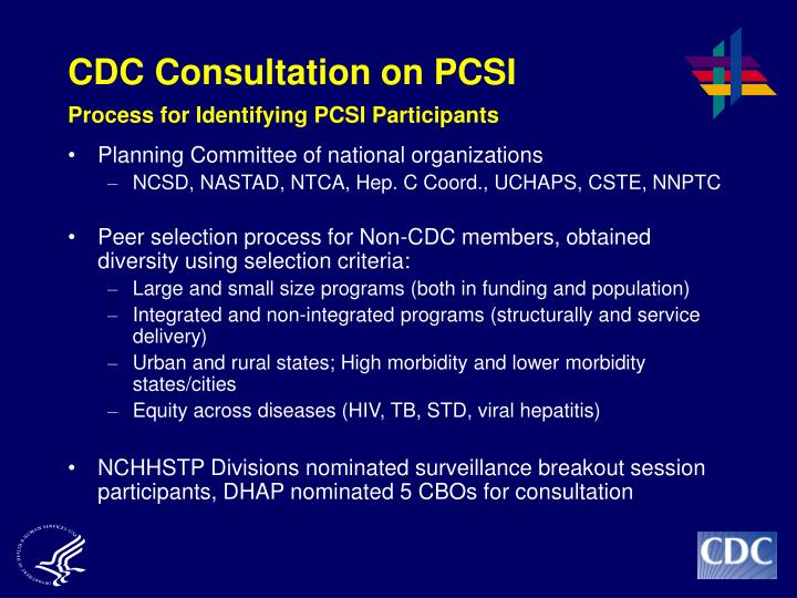 CDC Consultation on PCSI