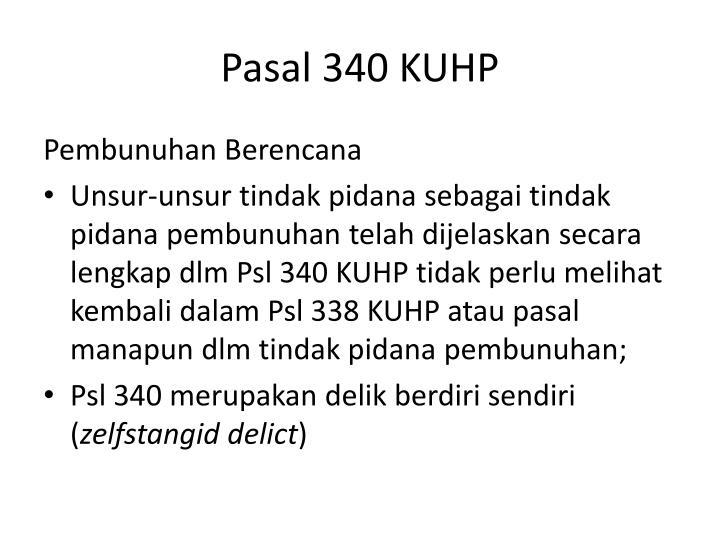 Pasal 340 KUHP