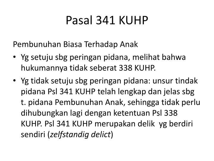 Pasal 341 KUHP