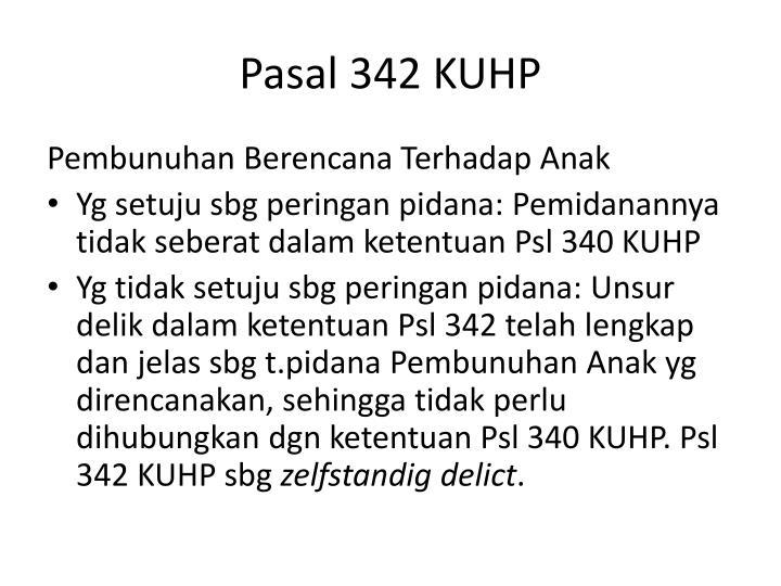 Pasal 342 KUHP