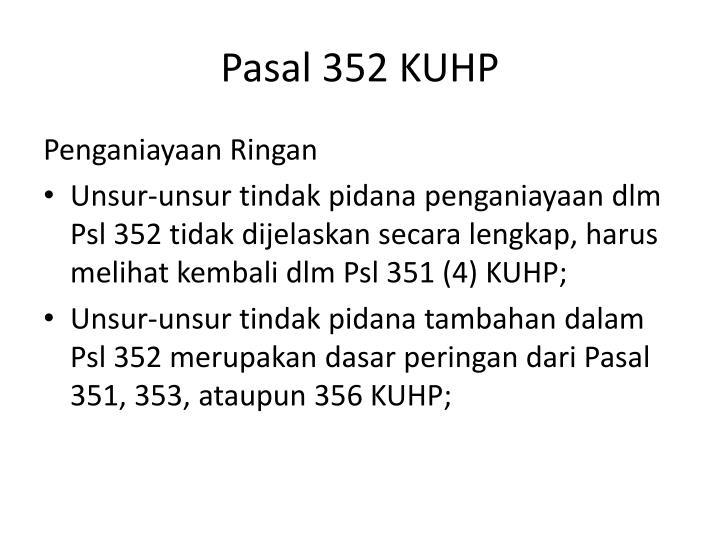Pasal 352 KUHP