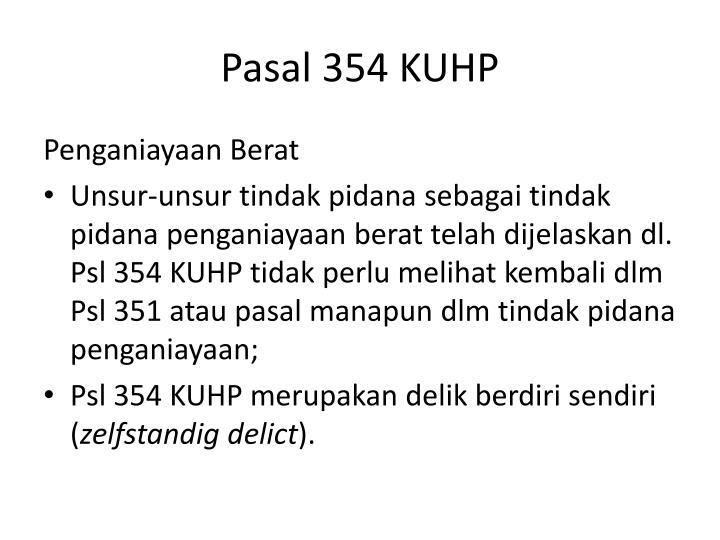 Pasal 354 KUHP