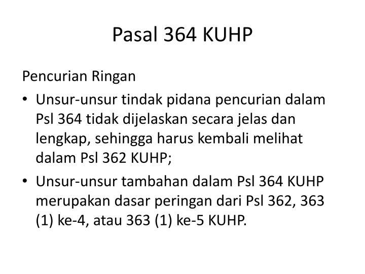 Pasal 364 KUHP