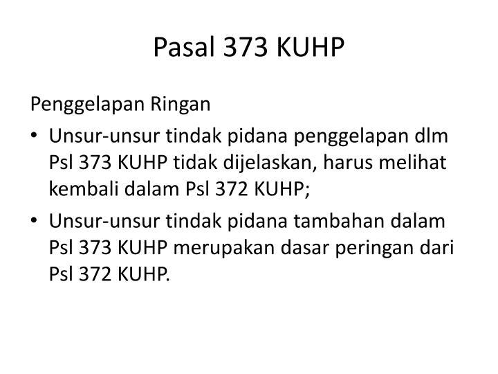 Pasal 373 KUHP