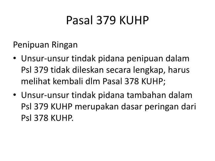 Pasal 379 KUHP