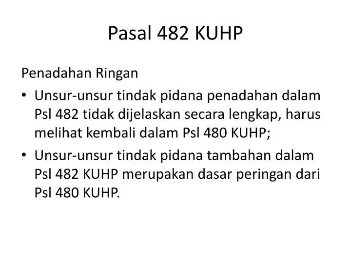 Pasal 482 KUHP