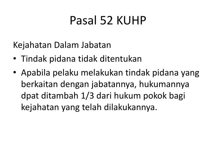 Pasal 52 KUHP