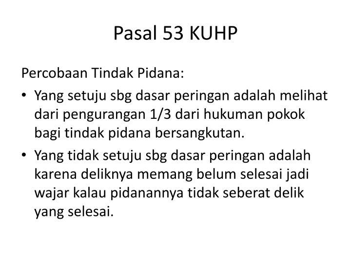 Pasal 53 KUHP