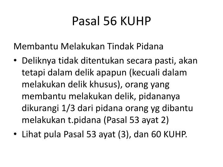 Pasal 56 KUHP