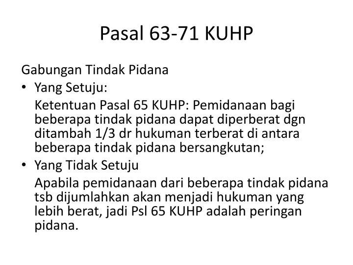 Pasal 63-71 KUHP
