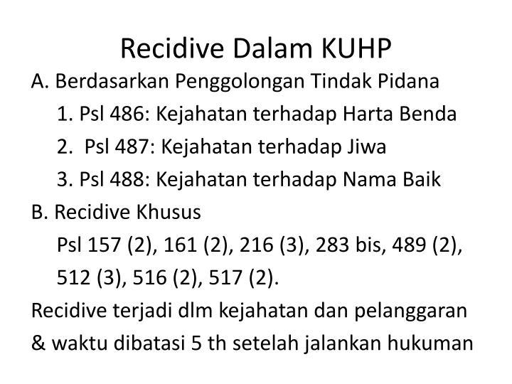 Recidive Dalam KUHP