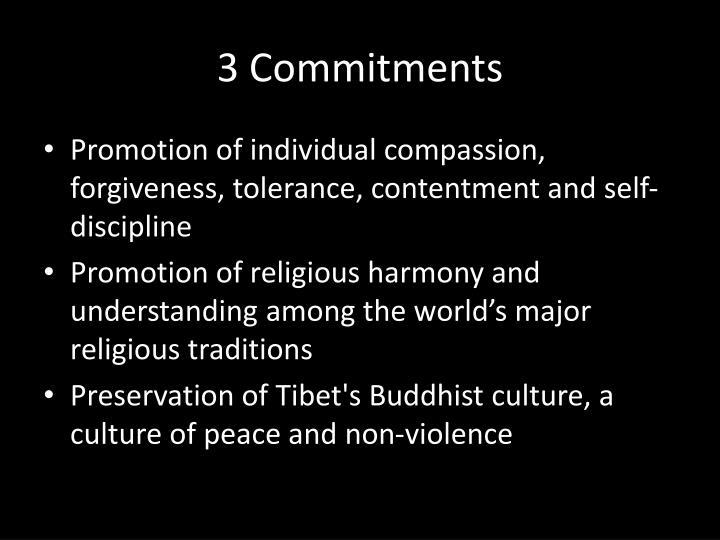 3 Commitments