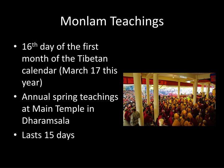 Monlam Teachings