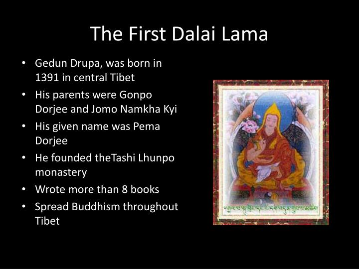 The First Dalai Lama