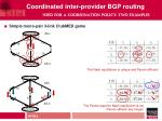 coordinated inter provider bgp routing need for a coordination policy two examples