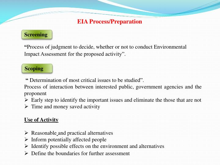 EIA Process/Preparation