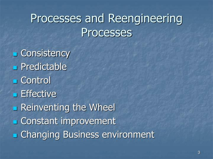 Processes and Reengineering Processes